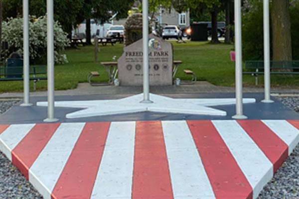 <h4>Freedom Park</h4><p><strong>508 Main St, Newburg, WI</strong></p><p>War Veterans Memorial<br>Picnic Tables<br> <br> </p>